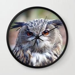 Eurasian Eagle-Owl, Uhu Wall Clock