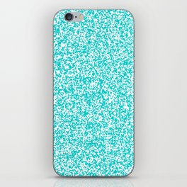 Tiny Spots - White and Cyan iPhone Skin