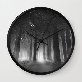Soul of the Forest B&W Wall Clock