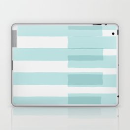 Big Stripes In Turquoise Laptop & iPad Skin