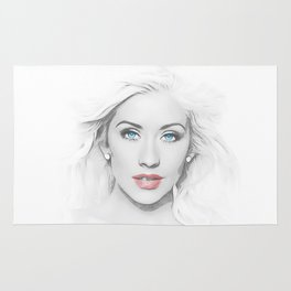 Christina Aguilera - Pop Art Rug