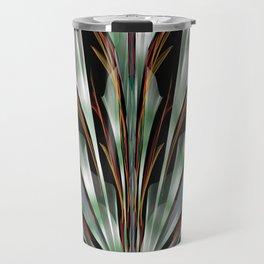 Retro Abstract Floral Design Travel Mug
