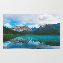 The Mountains and Blue Water - Nature Photography Rug