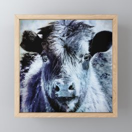 Calf is Blue Framed Mini Art Print