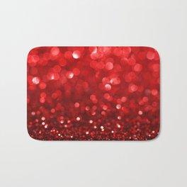 Ruby Red Disco Glitter & Sparkles Bath Mat