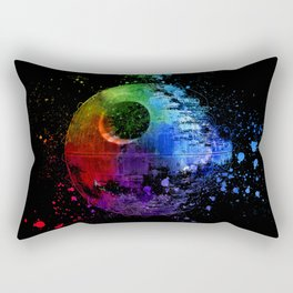 Death Star Abstract Painting - Colorful StarWars Art Rectangular Pillow