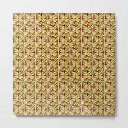 Trumpet Cross Pattern Metal Print