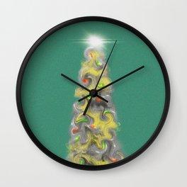 Happy Christmas Tree Wall Clock
