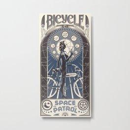 Bicycle Space Patrol Metal Print