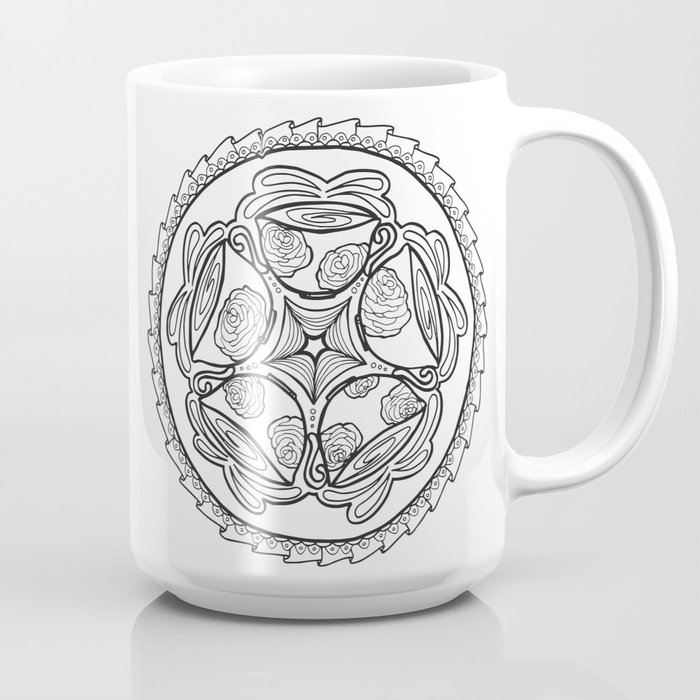 Color-in Coffee Mandala Coloring Page Coffee Mug by momsandcrafters ...