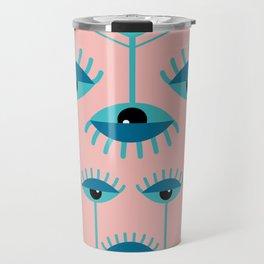 Unamused Eyes - Art Deco Travel Mug