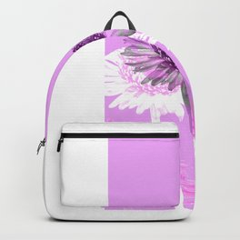 flowers are flowers and pink is the warmest color Backpack