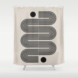 Geometric Mid Century Art Shower Curtain