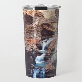 Waterfall at Watkins Glen Travel Mug