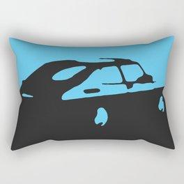 Saab 900 classic, Light Blue on Black Rectangular Pillow