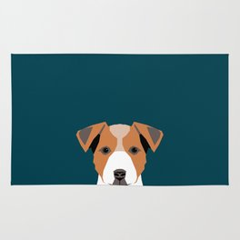 Bailey - Jack Russell Terrier phone case art print gift for dog people Jack Russell Terrier owners Rug