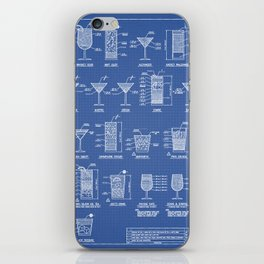 COCKTAILS poster iPhone Skin
