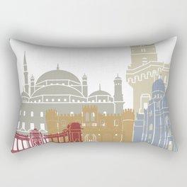 Alexandria skyline poster Rectangular Pillow