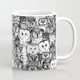 just owls black white Coffee Mug