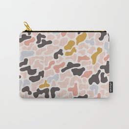 Seamless pattern with organic hand drawn rounded and stripe shapes Carry-All Pouch