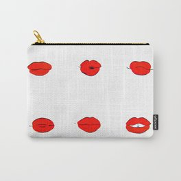 Red Lips Pattern Carry-All Pouch