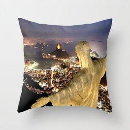 Christ the Redeemer ✝ Statue  Throw Pillow