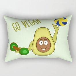 Go Vegan -Avocado Man Rectangular Pillow