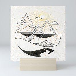 Triangle Dunes Inktober :: Destiny Laced Beneath The Deserts Mini Art Print