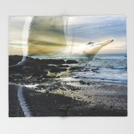 Sea Bird Throw Blanket
