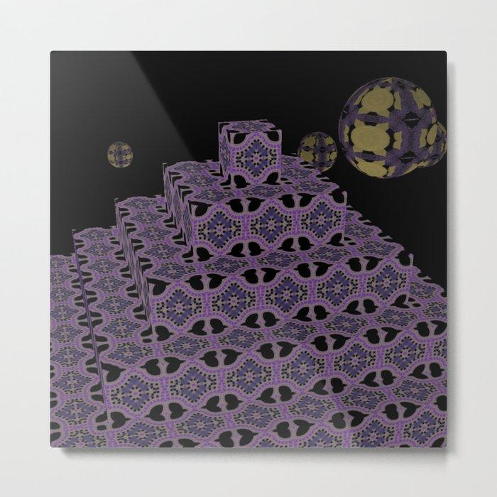 Pyramide Grotesque 41 Metal Print