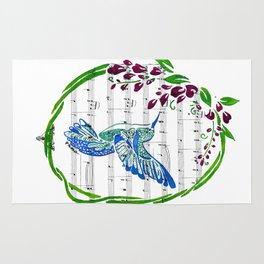 Carrier of Hope (Hummingbird and Wisteria) Rug