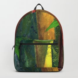 Colorful bamboo painting with gouache Backpack