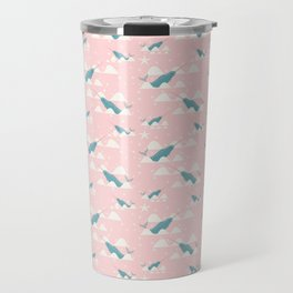 narwhal in ocean pink Travel Mug