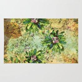 Green Flowers of the Grandmother Garden! Rug