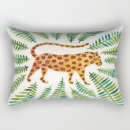 Jaguar – Green Leaves Rectangular Pillow