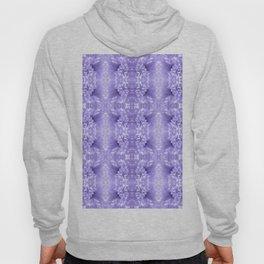 Pastel Purple White Flower Pattern Hoody