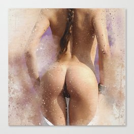 Nude back Canvas Print