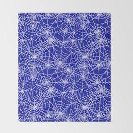 Royal Blue Cobwebs Throw Blanket