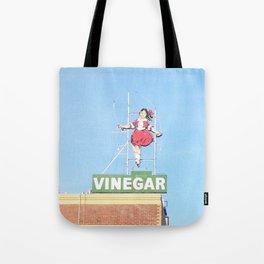 Skipping girl vinegar sign Tote Bag