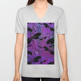 DragonFly Purple Unisex V-Neck