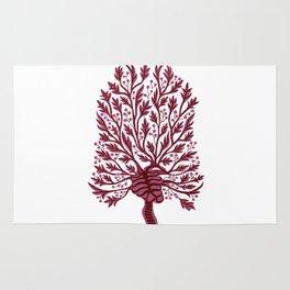 Skeleton Hawthorn Tree White Rug