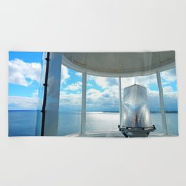 Souris Lighthouse View from the Top Beach Towel