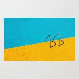 yellow blue pool Rug