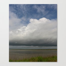 Clouds Over The Marsh Canvas Print