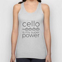 Cello is my super power (white) Unisex Tank Top