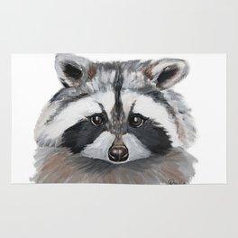 Rhubarb the Raccoon Rug
