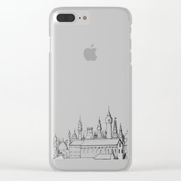fabulous city . art . black and white Clear iPhone Case
