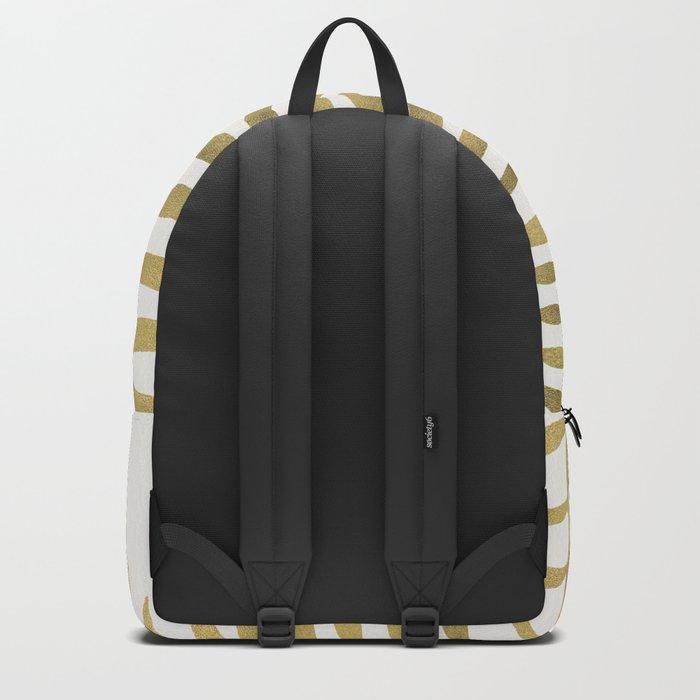 Golden Palm Leaf Backpack