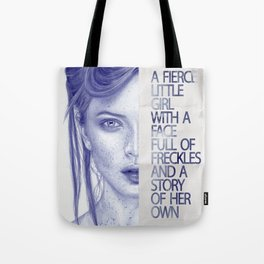 Fierce little girl Tote Bag