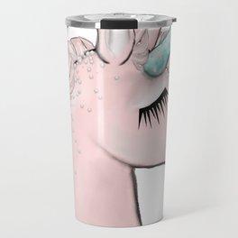 Pink Unicorn Travel Mug